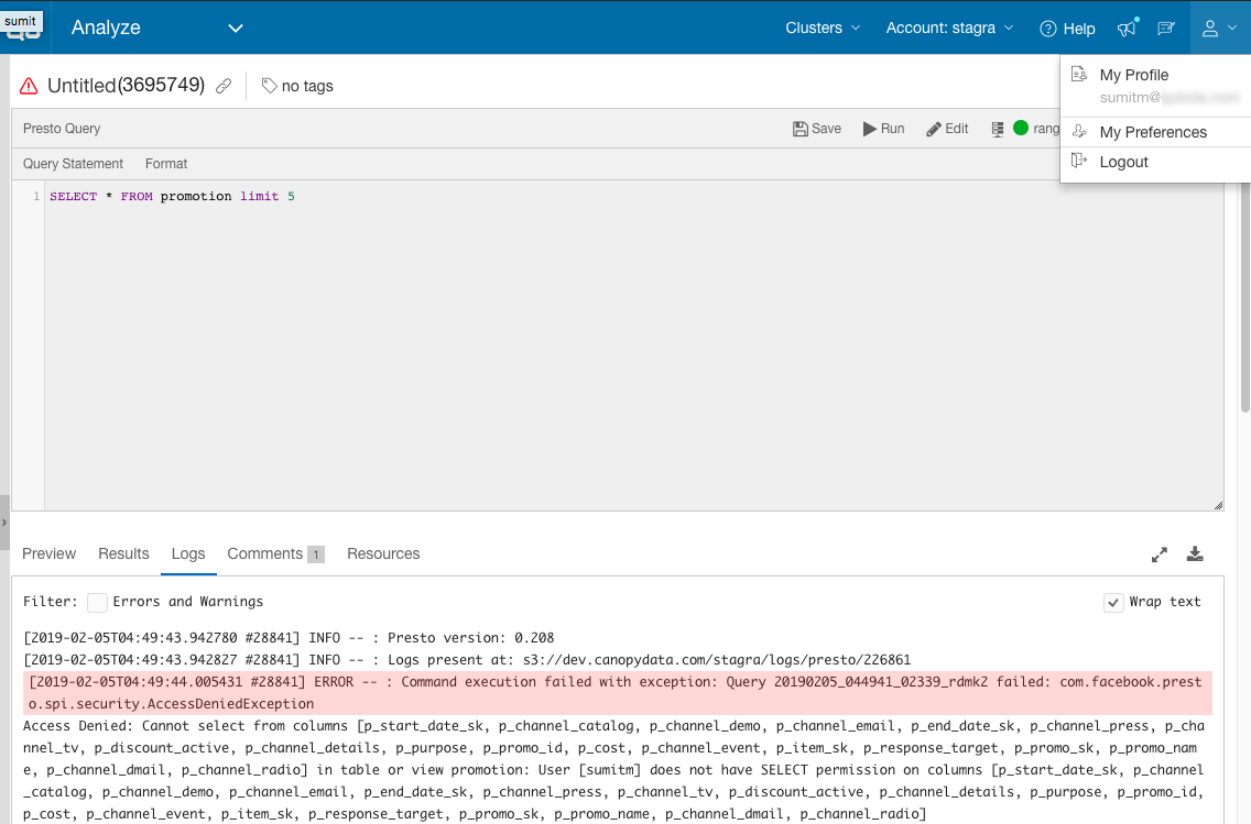 SQL Authorization through Ranger in Presto — Qubole Data