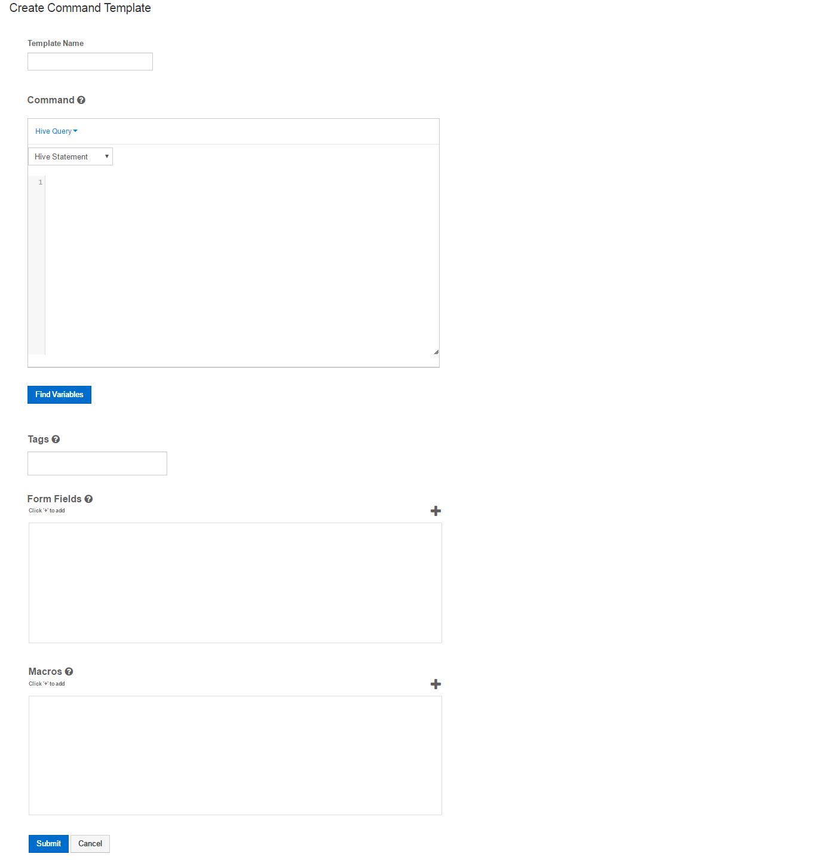 Creating a Command Template — Qubole Data Service 1.0 documentation