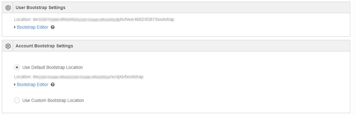 Managing Hive Bootstrap — Qubole Data Service 1 0 documentation