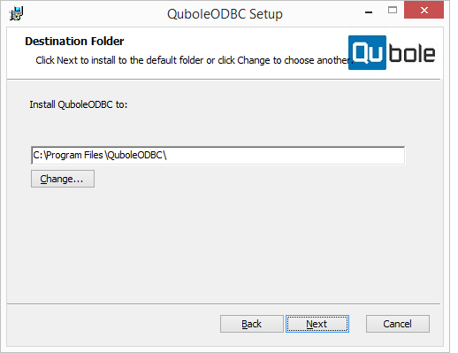 Installing the ODBC Driver on Windows — Qubole Data Service