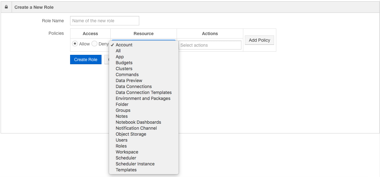Managing Access Permissions and Roles — Qubole Data Service