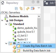Configuring a Sample Spark job in Talend Studio — Qubole Data