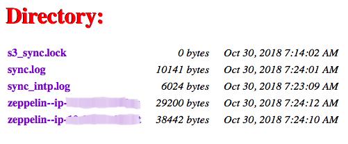 Accessing the Logs — Qubole Data Service 1 0 documentation