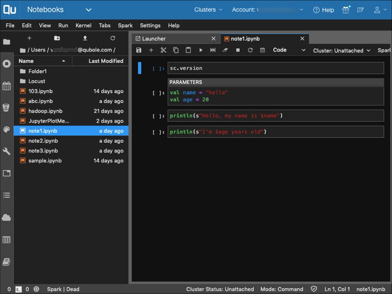 Changing the JupyterLab Interface Theme — Qubole Data